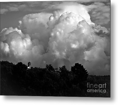 Tuscan Storm Rising From The Valley Metal Print