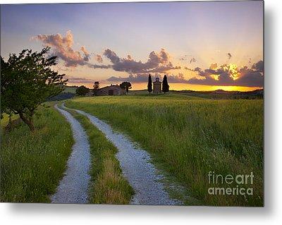 Tuscan Sunset Metal Print by Brian Jannsen