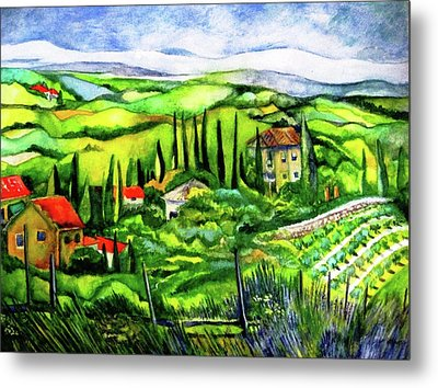 Tuscan Valley Metal Print