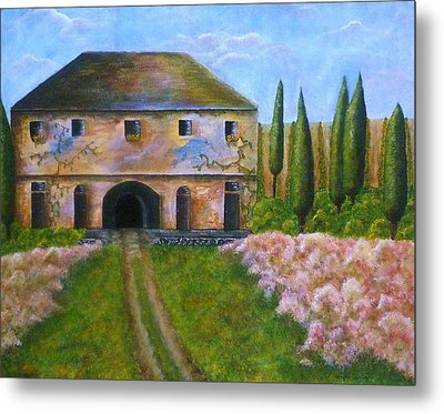 Tuscan Villa Metal Print by Tamyra Crossley