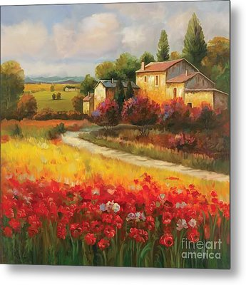 Metal Print featuring the painting Tuscan Villa  by Tim Gilliland