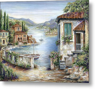 Tuscan Villas By The Lake Metal Print