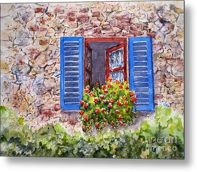 Tuscan Window Metal Print by Mohamed Hirji