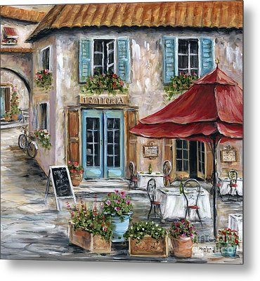Tuscan Trattoria Metal Print by Marilyn Dunlap