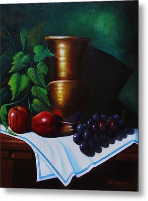 Tuscany Still Life Metal Print by Gene Gregory