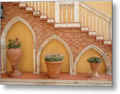 Tuscany Style Welcome Metal Print by Ann Johndro-Collins