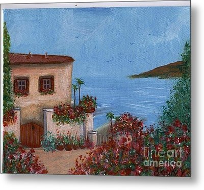Metal Print featuring the painting Tuscany View by Becky Lupe