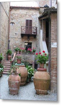 Tuscany Yard Metal Print