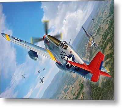 Tuskegee Airmen P-51 Mustang Metal Print