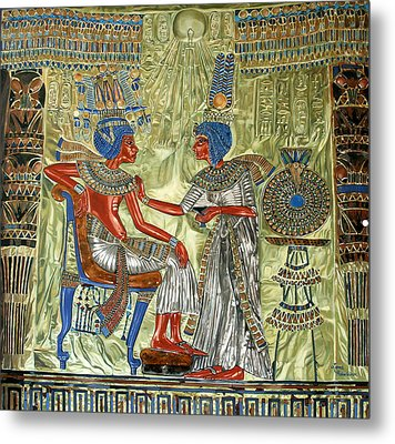 Tutankhamon's Throne Metal Print