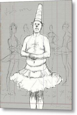 Tutu Man Metal Print by H James Hoff