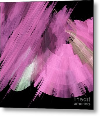 Tutu Stage Left Abstract Pink Metal Print by Andee Design