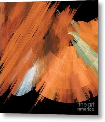 Tutu Stage Left Peach Abstract Metal Print by Andee Design