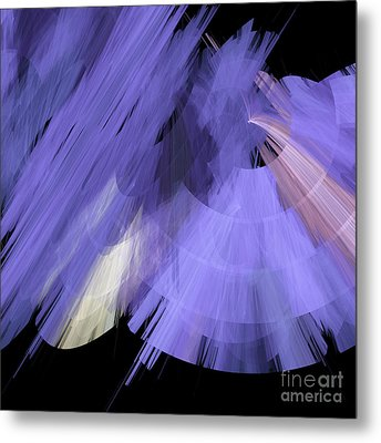 Tutu Stage Left Periwinkle Abstract Metal Print by Andee Design