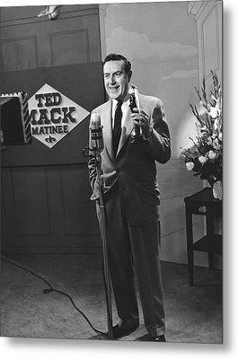Tv Personality Ted Mack Metal Print by Underwood Archives