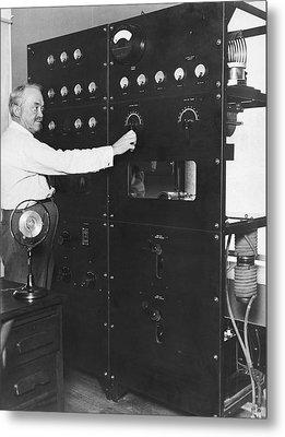Tv Pioneer Francis Jenkins Metal Print by Underwood Archives