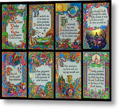 Twenty Third Psalm Collage 2 Metal Print