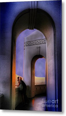 Twilight Arches Metal Print