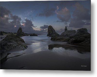 Twilight At Bandon Metal Print by Tim Bryan
