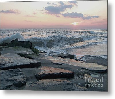 Twilight At Cape May In October Metal Print by Eric  Schiabor