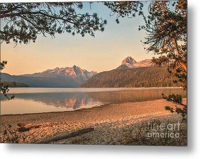 Twilight At Redfish Lake  Metal Print by Robert Bales