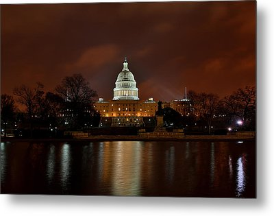 Twilight At The Capitol Metal Print