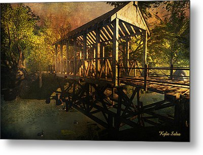 Twilight Bridge Metal Print by Kylie Sabra