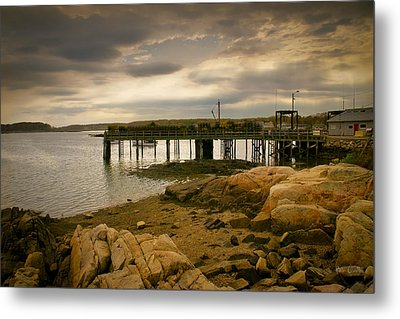 Twilight Cape Porpoise Maine Metal Print by Bob Orsillo