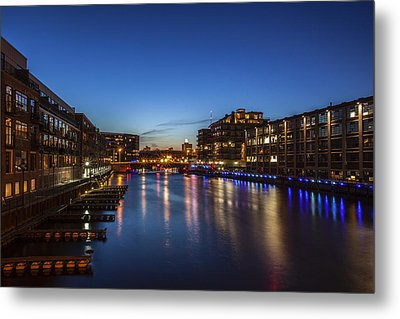 Twilight Docks Metal Print