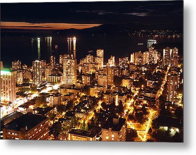 Metal Print featuring the photograph Twilight English Bay Vancouver Mdlxvii by Amyn Nasser