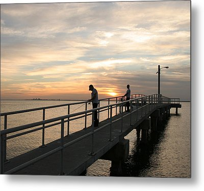 Twilight Fishing Metal Print