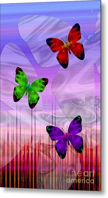Twilight Flight Metal Print