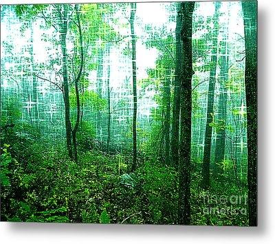 Twilight Forest Metal Print by Lorraine Heath