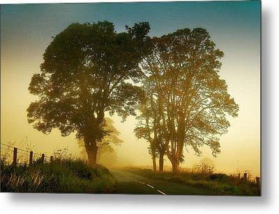 Twilight Guardians. Misty Roads Of Scotland Metal Print by Jenny Rainbow