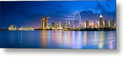Twilight In Singapore Metal Print by Ulrich Schade