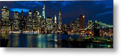 Twilight Nyc Panorama Metal Print by Mitchell R Grosky