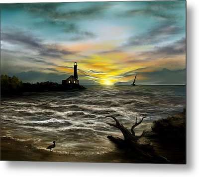 Twilight On The Sea Metal Print