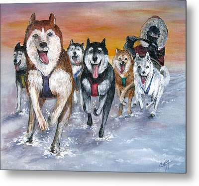 Twilight On The Trail Metal Print by Karen Copley