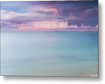 Twilight Over The Atlantic Metal Print by Photography  By Sai