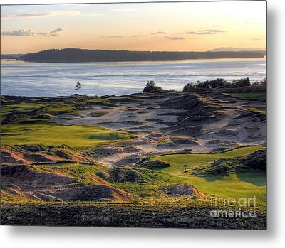 Metal Print featuring the photograph Twilight Paradise - Chambers Bay Golf Course by Chris Anderson