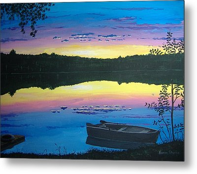 Twilight Quiet Time Metal Print by Norm Starks