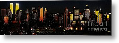 Metal Print featuring the photograph Twilight Reflections On New York City by Lilliana Mendez