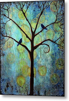 Twilight Tree Of Life Metal Print by Blenda Studio