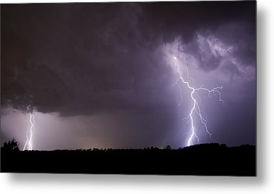 Twin Bolts Metal Print by John Crothers