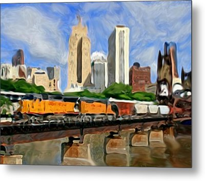 Twin Cities Train Metal Print by Dennis Buckman