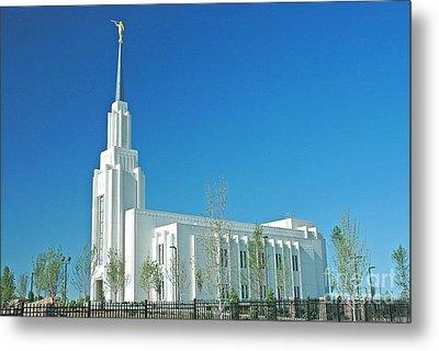 Twin Falls Idaho Lds Temple Metal Print by Nick  Boren