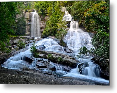 Twin Falls South Carolina Metal Print by Frozen in Time Fine Art Photography