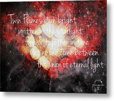 Twin Flames Metal Print