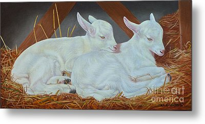 Twin Kids Metal Print by K L Kingston