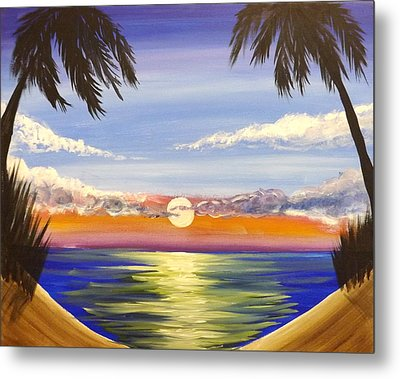 Twin Palms Metal Print by Darren Robinson